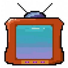 像素风格电视机