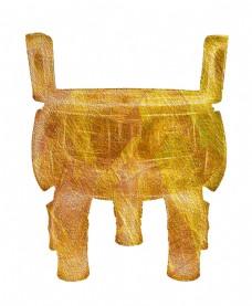 金色的三足鼎