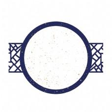 白色金色蓝色古典装饰