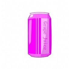 紫色罐装葡萄汁