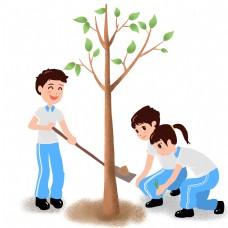 劳动节之校园植树