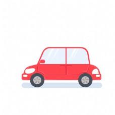 一辆红色的车免扣图