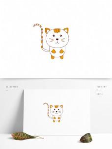 原创卡通动物小花猫