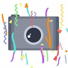 彩条装饰照相机