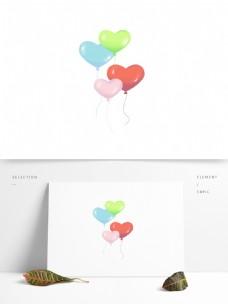 可爱彩色卡通心形气球