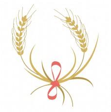 红绳装饰麦子