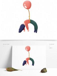 气球可爱元素卡通装饰图案女生创意