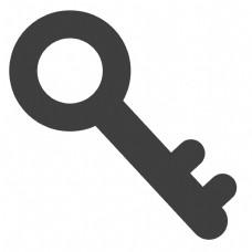 黑色的卡通钥匙