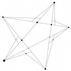 黑色科技五星设计素材