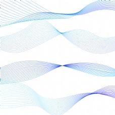 蓝色渐变线条