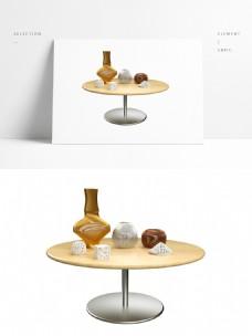 C4D清新花瓶摆件模型