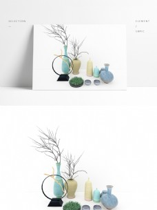 现代简约花瓶陈列