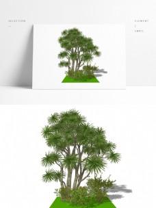 一套景观组团模型