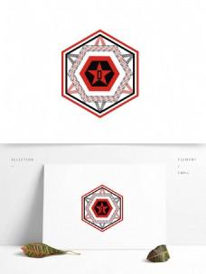 星星标志元素设计logo