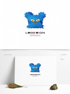 卡通猫标识logo可爱简约商业店铺科技