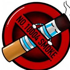 禁止吸烟卡通标识 精细分层