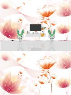 唯美时尚花朵立体背景墙