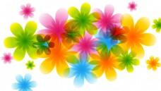 魅力春节时尚精美彩色小花朵设计