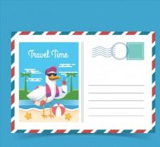 創意度假海鷗明信片
