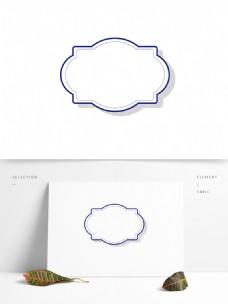 多边形边框欧式装饰元素