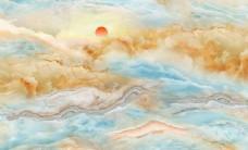 大理石纹日出背景壁画