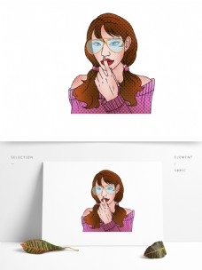 手绘一个诱惑的性感女性