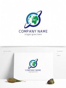 时尚创意地球科技logo
