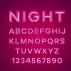 霓虹灯字母数字