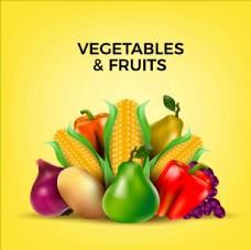 矢量水果蔬菜