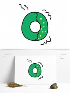 矢量卡通创意字母O