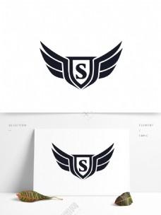 S字母盾牌矢量标志