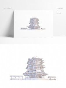 中国古建筑塔楼模型