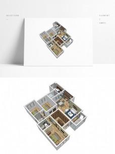 简约风户型设计SU模型