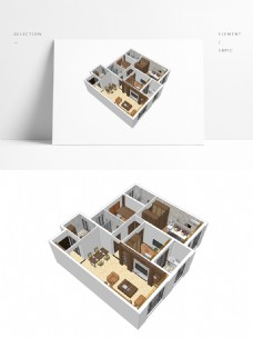 中式风格住宅SU透视模型