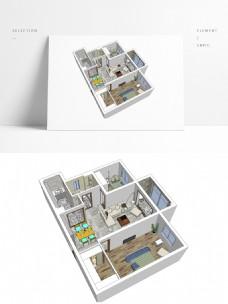 极简风格住宅设计SU模型