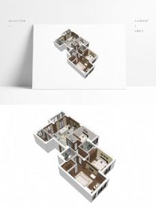 新中式风格住宅SU透视模型