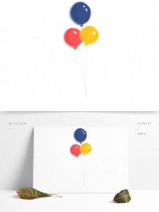 红色喜庆气球卡通透明素材