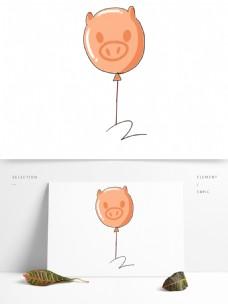 可爱风小猪气球免抠元素