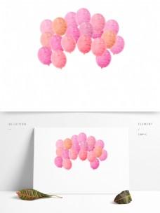 粉色喜庆气球卡通透明素材