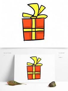 卡通手绘礼物png元素