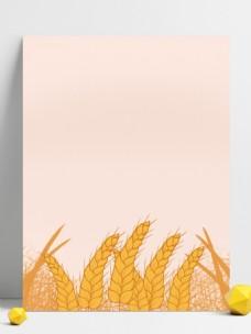 芒种节气麦穗背景素材