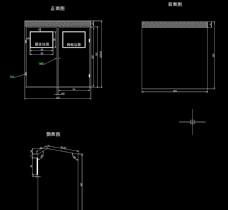 CAD图垃圾箱垃圾分类亭