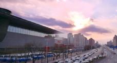 首都博物馆夕阳