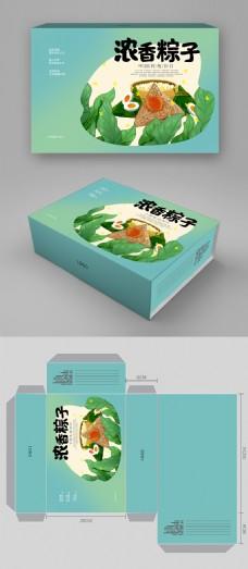 简约中国风端午节粽子包装盒设计