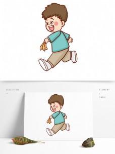 手绘卡通男孩形象人物设计