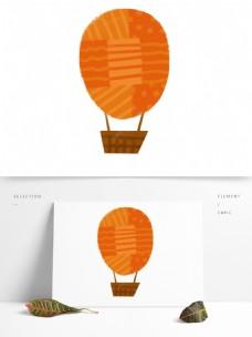 可爱风热气球免抠元素