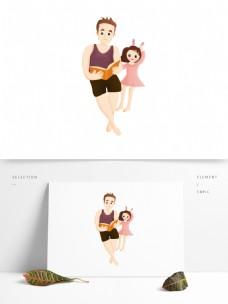 手绘卡通男孩女孩图案