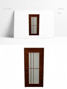 C4D简约现代单开玻璃门模型