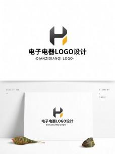 简约大气创意电子电器logo标志设计