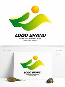 简约现代绿色飘带公司标志开发区LOGO